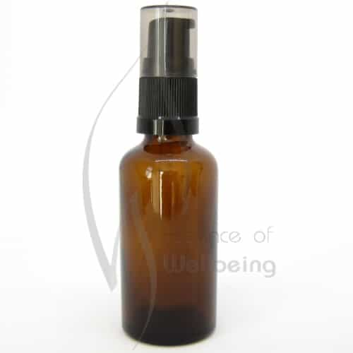 50ml Amber glass bottle with pump attachment