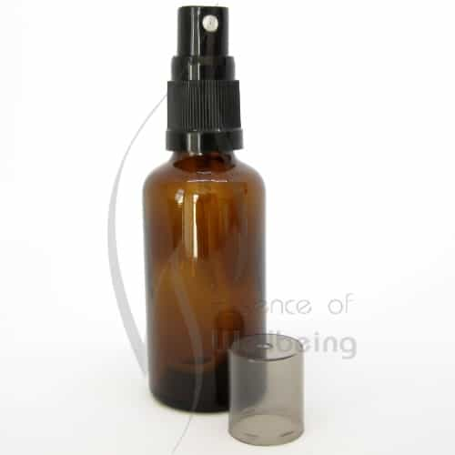 50ml Amber glass bottle with spray 2